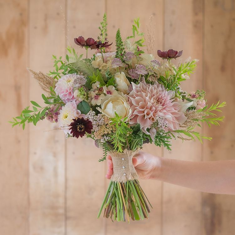 Bridesmaids Pink Bouquet - From Flower & Farmer
