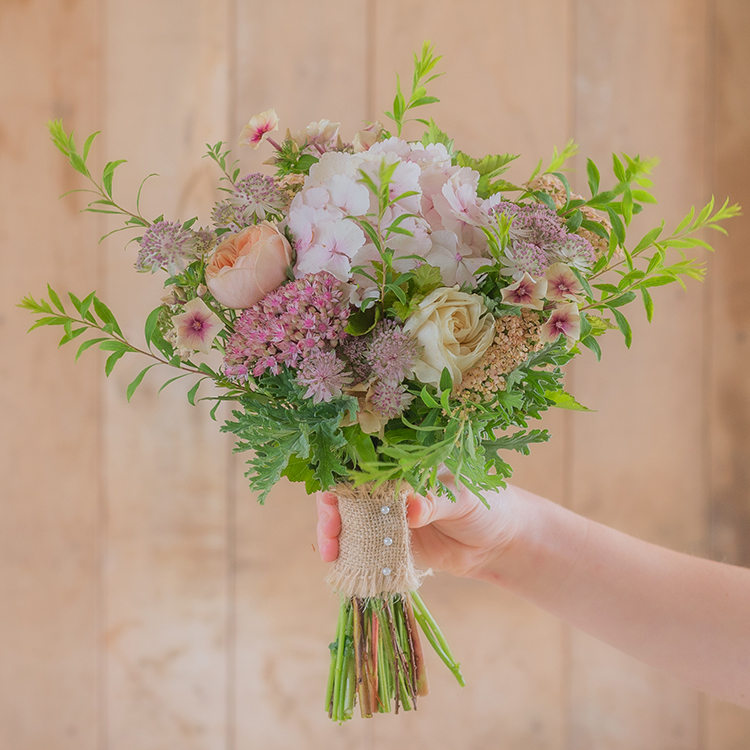 Flower Girls Posy Pink