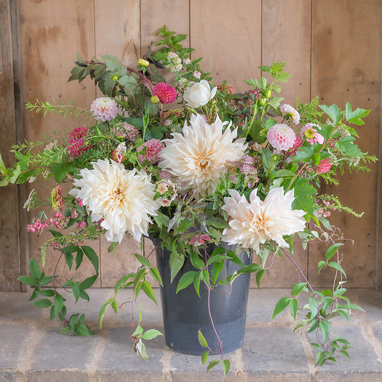 Wedding Flowers - DIY Bucket Bouquet