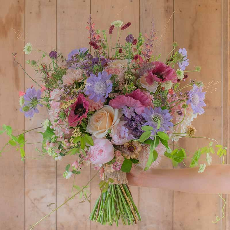 Bridal wildflower bouquet