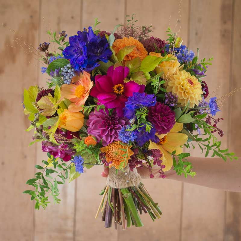 Bright bridesmaid's bouquet