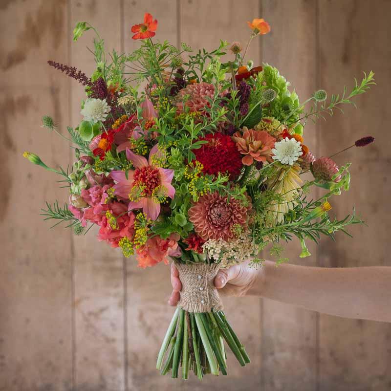 Bridesmaids Pink Bouquet - From Flower & Farmer