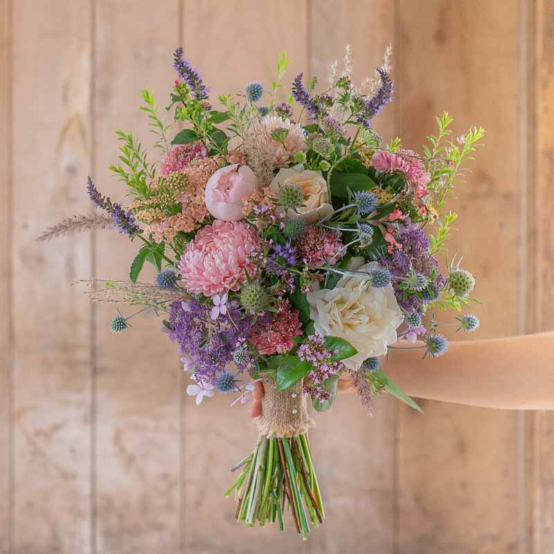 Bridesmaid's meadow flower bouquet