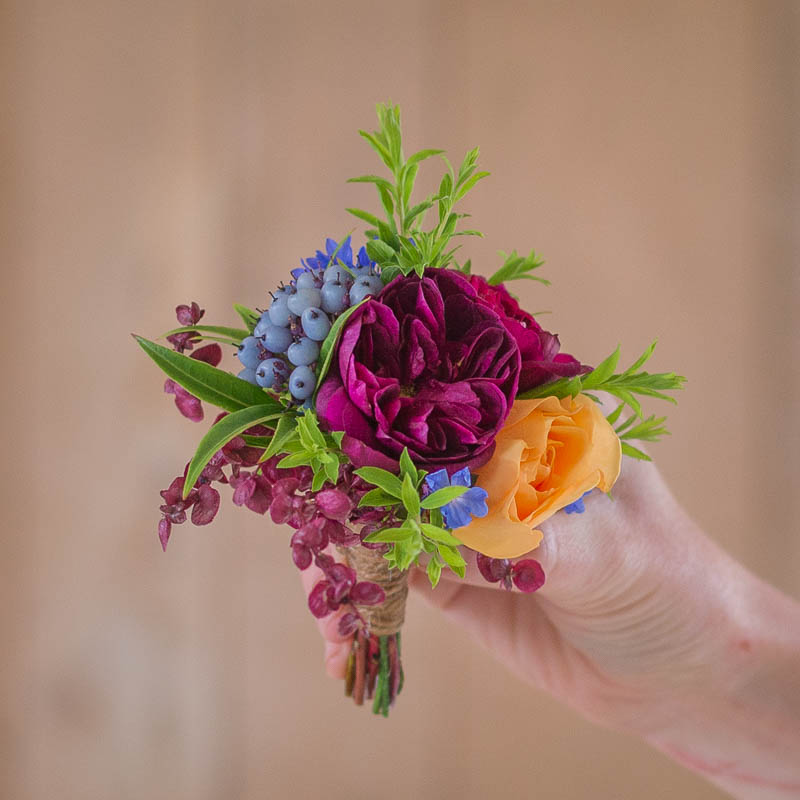Seasonal Wedding Buttonhole