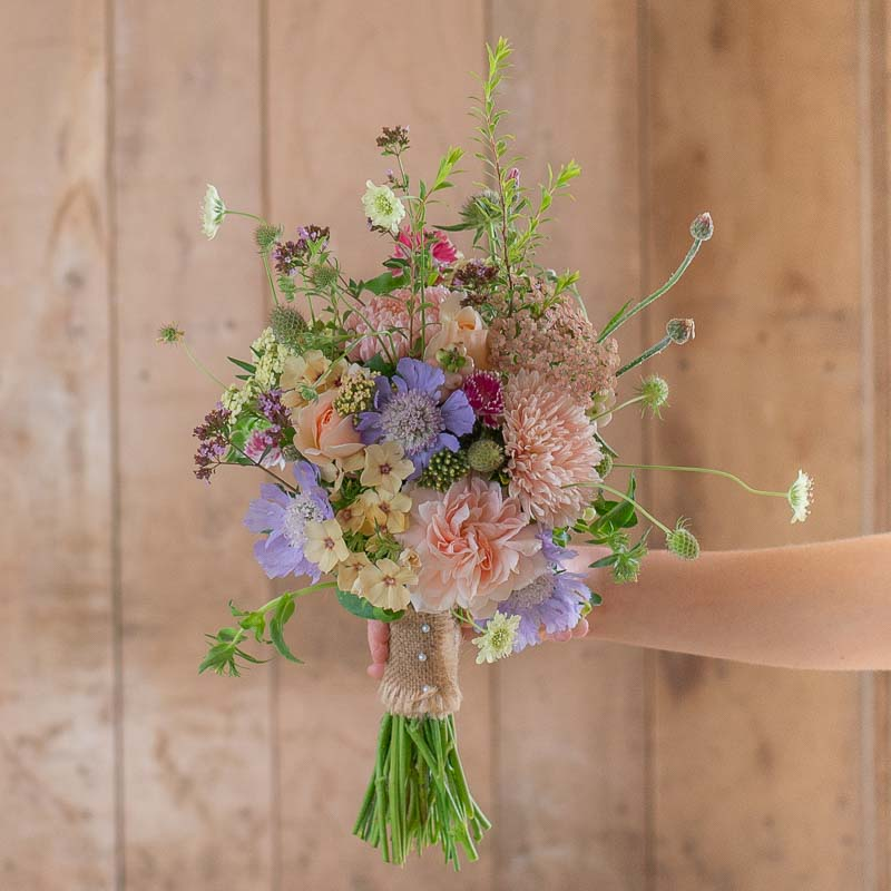 Flower girl's grasses posy