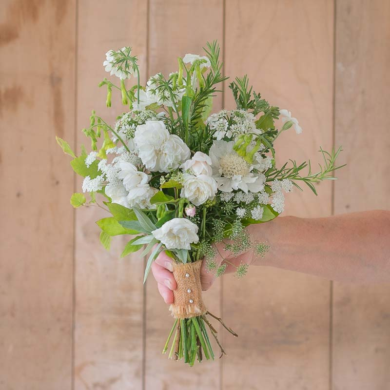 Flower girl's sweet pea posy