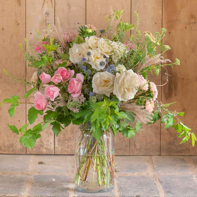 Wedding arrangment in a vase